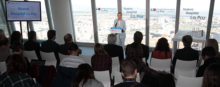 Cristina Cifuentes presenta el proyecto del nuevo Hospital La Paz