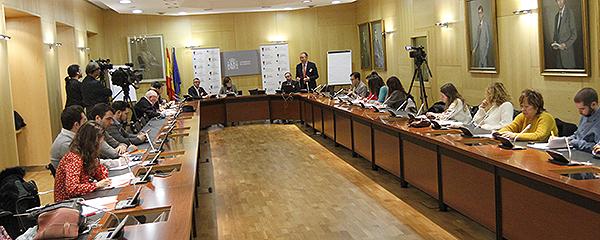 Momento de la presentación de la Declaración en la Sala Europa del Ministerio de Sanidad.
