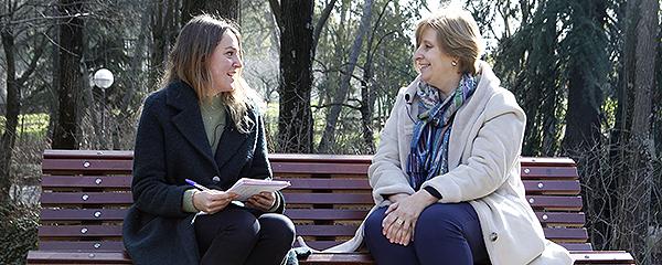 La entrevista tuvo lugar en el parque Quinta de los Molinos, situado al noreste de Madrid.