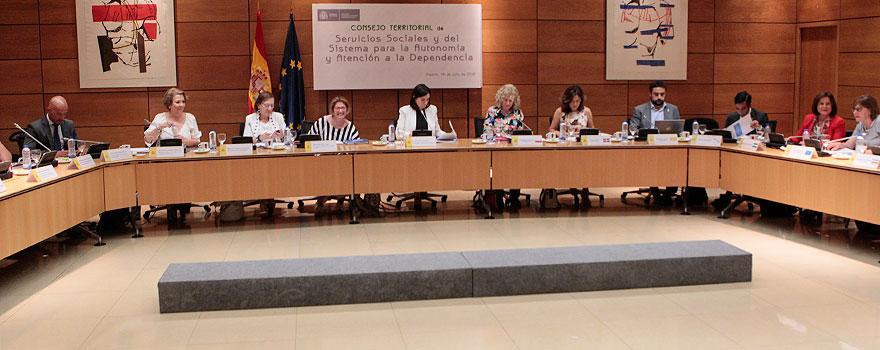 Aspecto de la sala al comienzo del Consejo Territorial de Servicios Sociales y del Sistema para la Dependencia.