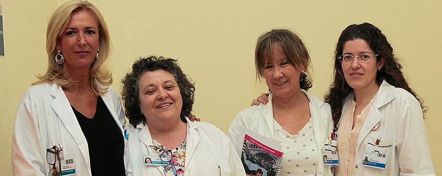 Ana Gloria Moreno, directora de Enfermería, Juana María Sáez, adjunta a la directora de Enfermería, Olga Martín, supervisora de Calidad en Enfermería y Nadia Choackhal, supervisora de dirección del Hospital Fundación Jiménez Díaz.
