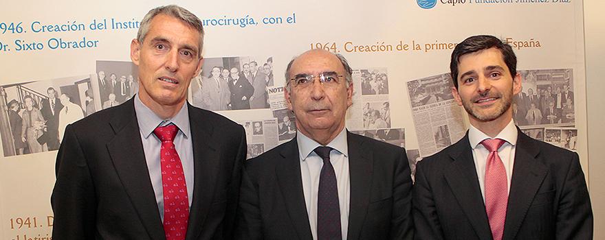 Juan Antonio Álvaro de la Parra, Alberto Pardo Hernández y Héctor Ciria.
