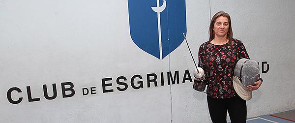 Mónica Moro en el Club de Esgrima de Madrid, donde se celebró la entrevista.