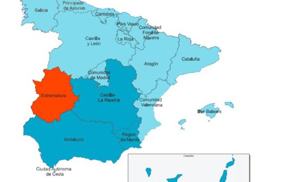 La mayoría de comunidades españolas aparecen como desarrolladas, aunque Extremadura se lleva la peor nota