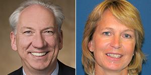El vicepresidente de Medtronic, Rob ten Hoedt, y la directora de negocio de Terapias de Ritmo Cardiaco de la compañía, Katja Kreutzer. - medtronic300