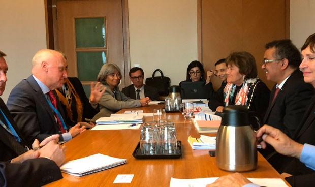 La apretada agenda de Faustino Blanco en la Asamblea de la OMS