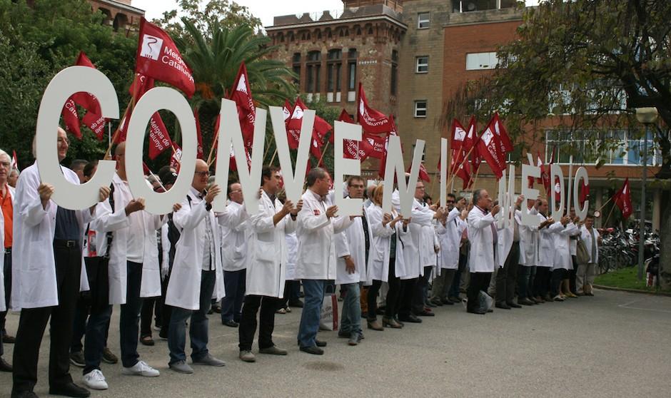 """""""Unidad de acción"""" para renovar el convenio médico en Cataluña"""