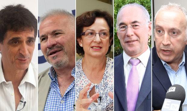 A. Cabrera, J. Martínez, G. Álvarez, F. Miralles y R. Reig
