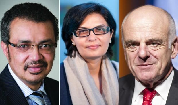 Adhanom, Nishtar y Nabarro, los tres finalistas para dirigir la OMS