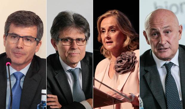 Adolfo Fernández-Valmayor, Humberto Arnés, Margarita Alfonsel y Jordi Martí