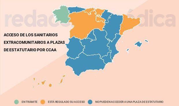 Al menos 6 CCAA modifican sus leyes para contratar más médicos no españoles