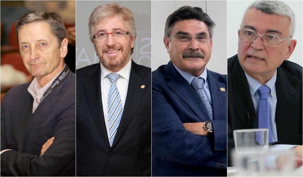 Alberto Capelastegui, Benjamín Abarca, José Luis Llisterri y Arcadi Gual