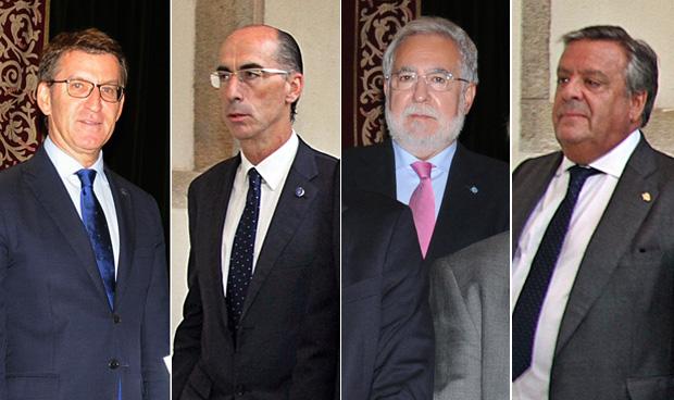 Alberto Núñez Feijóo, Jesús Vázquez Almuiña, Miguel Ángel Santalices y Julio Ancochea