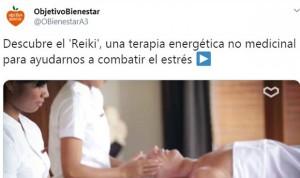 Antena 3 retira los anuncios que recomendaban pseudoterapias como el reiki
