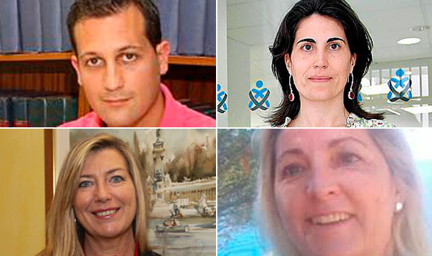 Antonio Cañellas, Antonia Martín, Patricia Gómez i Picard e Isabel Borrás