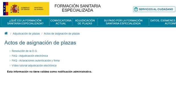 Asignación MIR online: ya está disponible la plataforma para elegir plazas