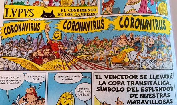 Astérix y Obélix ya lucharon contra el coronavirus en un cómic