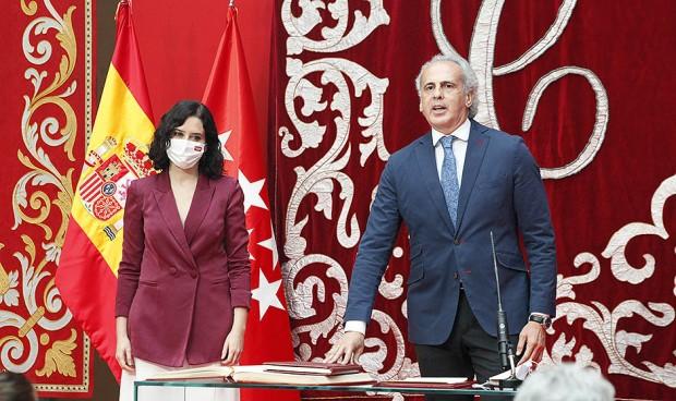 """Ayuso, sobre Escudero: """"Con su aplomo consolidaremos la sanidad madrileña"""""""