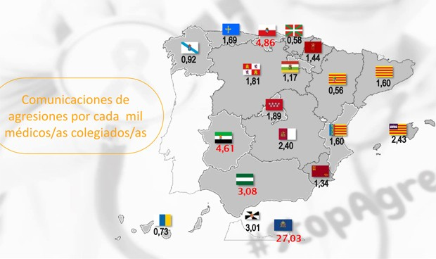 Cantabria, la comunidad con más agresiones a médicos; Aragón, la más segura