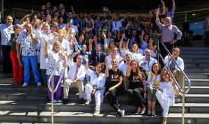 Carburos Metálicos celebra lanzando besos el Día del Niño Hospitalizado
