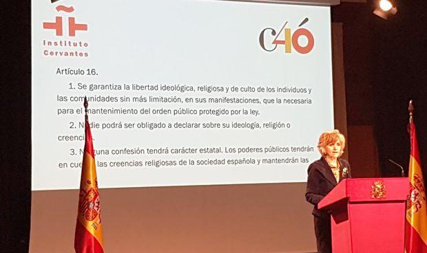 Carcedo celebra con su lectura los 40 años de la Constitución española