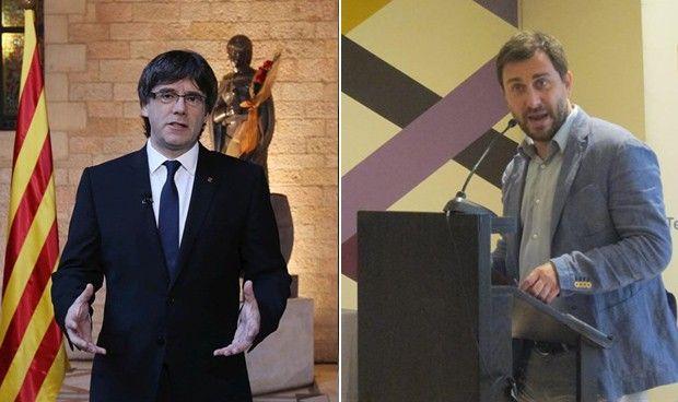 Carles Puigdemont y Antoni Comín