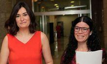 Carmen Montón y Patricia Lacruz