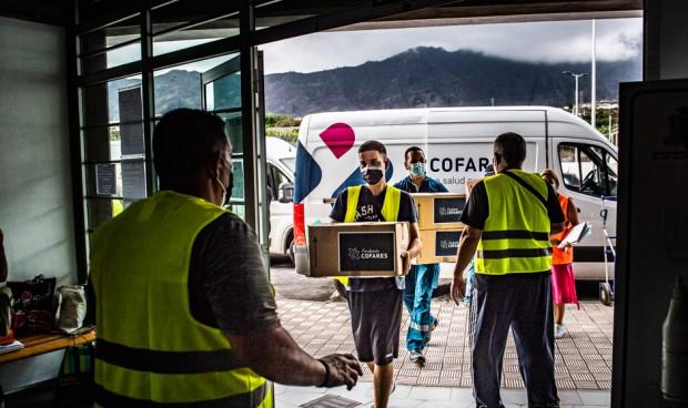Cofares dona 1.500 mascarillas FFP2 para ayudar en el volcán de La Palma