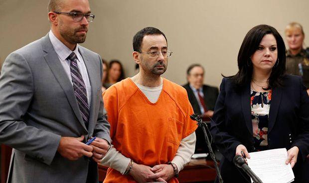 Condenan a 175 años de cárcel al médico que abusó de las gimnastas de EEUU