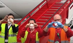 Coronavirus: El corredor aéreo sanitario reparte 800.000 mascarillas más
