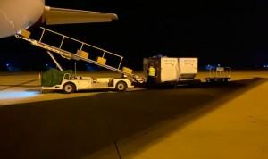 Coronavirus: el corredor aéreo ya suma 330 toneladas de material