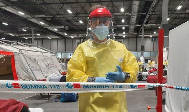 """Coronavirus en Ifema: """"Se vive la Medicina real, por la que tanto estudié"""""""