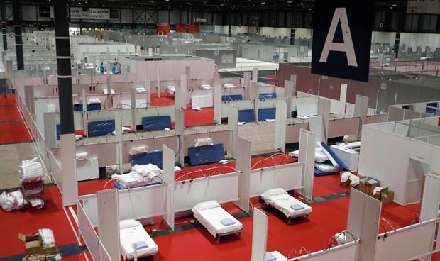 Coronavirus en Madrid: abren el pabellón 7 de Ifema