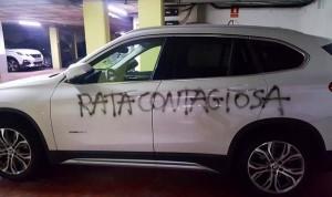 Coronavirus: escriben 'Rata contagiosa' en el coche de una ginecóloga