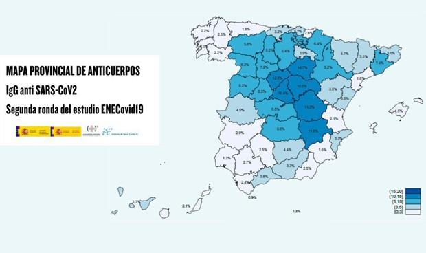 Coronavirus: 2,5 millones de españoles inmunes y letalidad menor al 2%