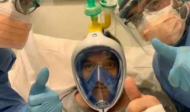 Coronavirus: HM Hospitales investiga una máscara de buceo para respirar