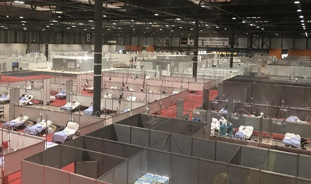 Coronavirus: Ifema no registra ningún ingreso por primera vez en 24 horas