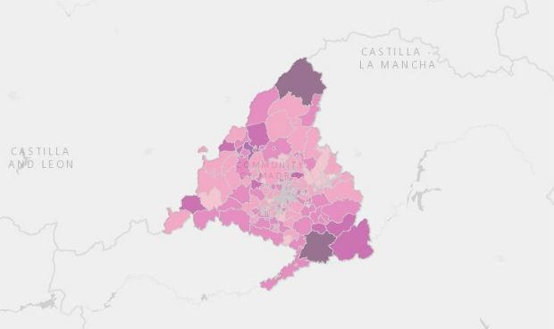 Covid Madrid: solo 3 zonas básicas por encima de 500 casos de incidencia