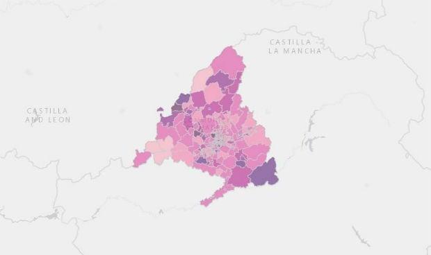 Estas son las 32 áreas de salud cerradas por coronavirus en Madrid
