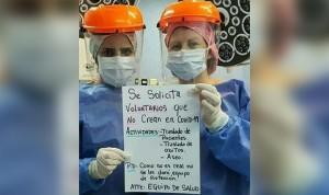 Coronavirus: los sanitarios ofrecen 'empleo' sin EPI para negacionistas