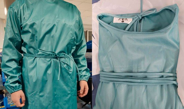 Coronavirus: Zara ya abastece de batas protectoras a los hospitales