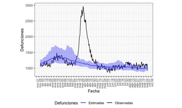 Covid-19: segundo mayor pico en exceso de mortalidad mensual de 2020