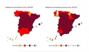 Covid-19 incidencia: más del 70% del territorio español, en riesgo extremo