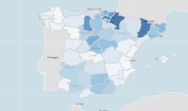 Las 3 regiones de más riesgo Covid en ancianos han vacunado a menos del 25%