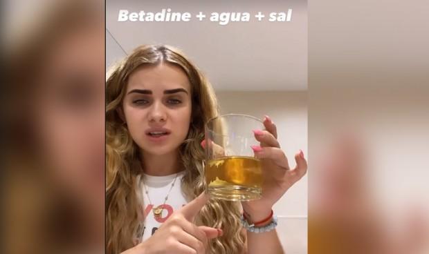 """""""Betadine, agua y sal"""", el remedio de Marina Yers para el dolor de garganta"""