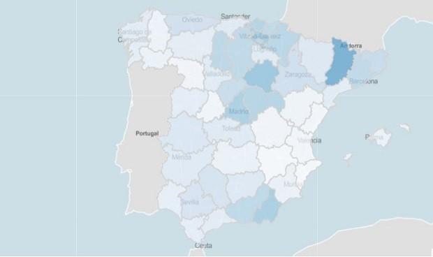 La mayor brecha Covid de incidencia entre provincias alcanza los 250 casos