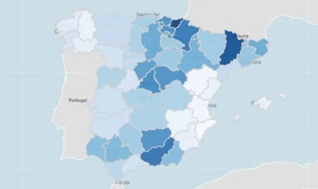 España se acerca a 100.000 casos/14 días y 2 provincias pasan de 400 en IA