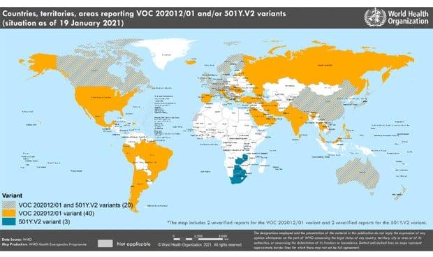 Covid   La cepa de Reino Unido ya está en 60 países; en 23 la de Sudáfrica