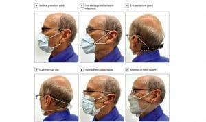 Covid | Cómo aumentar la eficacia de mascarillas con medias y pinzas