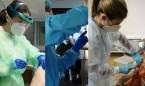 Covid-19: horas extra y mucho orgullo entre los 'pioneros' de la vacunación